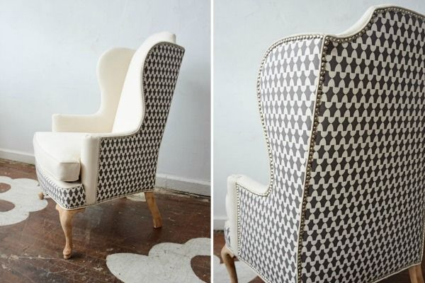 One Chair, Two Different Fabrics | Upholstered chairs, Upholstered .