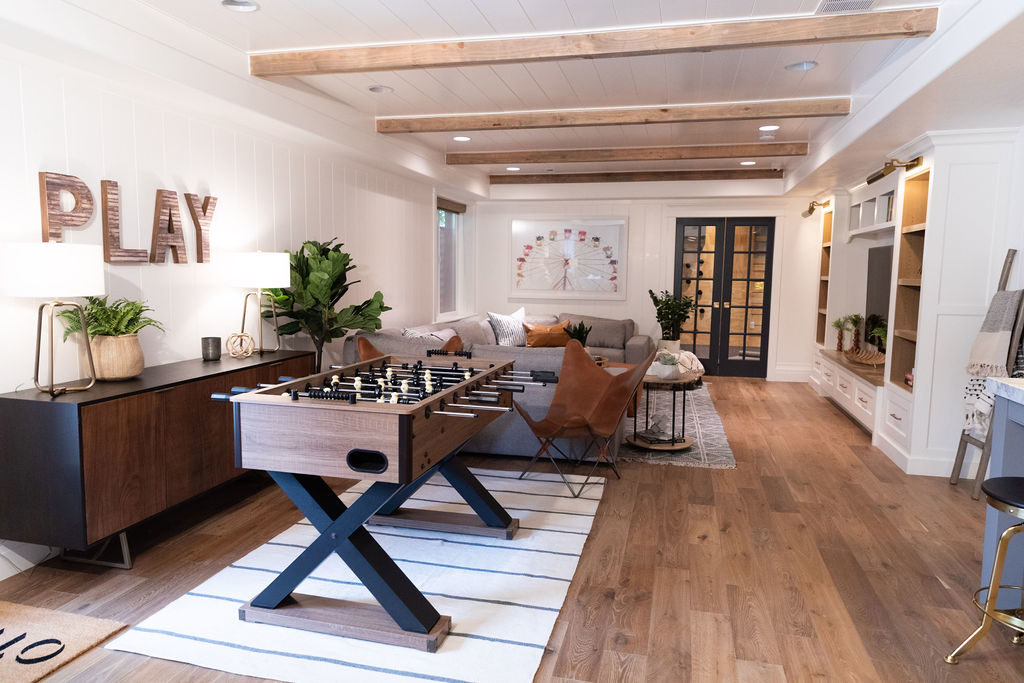 Shop the Space: Project Modern Family Basement Family Room .