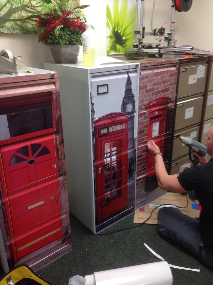 upcycle your old filing cabinets, vinyl wrap #filingcabinet .