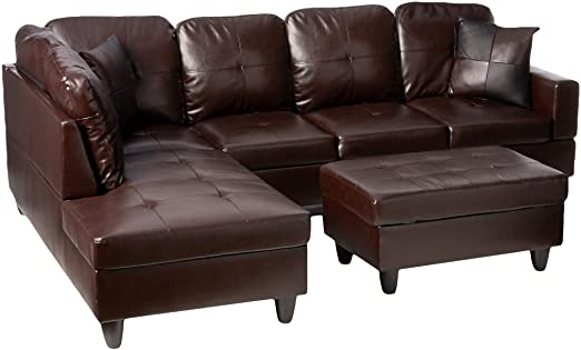Amazon.com: Beverly Fine Furniture Left Facing Russes Sectional .