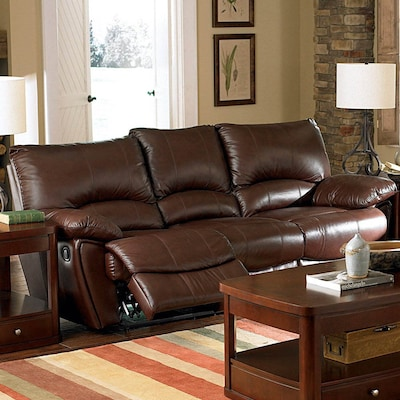 Coaster Fine Furniture Clifford Dark Brown Leather Sofa at Lowes.c