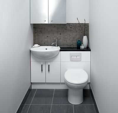 Moods Linear fitted bathroom furniture, great for small spaces .