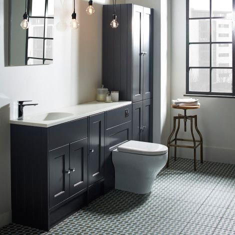 Burford Slate Grey Fitted Bathroom Furniture | Roper Rhodes .