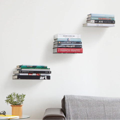 Umbra's Conceal Floating Bookshelf Is The Chic Book Storage You .