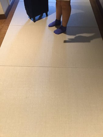 Matted floor coverings along walkways... easy on your feet .
