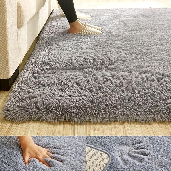 Large Size Soft Fluffy Rugs Anti-Skid Shaggy Area Rug Floor Mats .