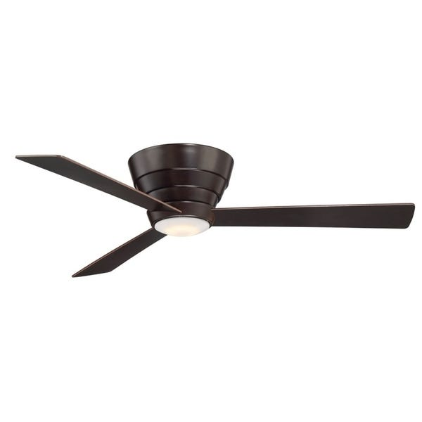 "Shop Niva 54"" Flush Mount Ceiling Fan with LED and Remote Control ."
