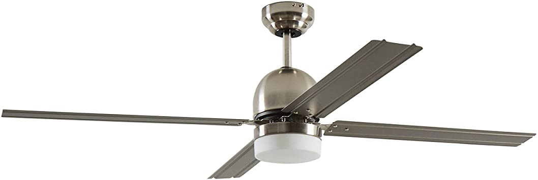 Rivet Modern Straight Blade Remote Control Flush Mount Ceiling Fan .