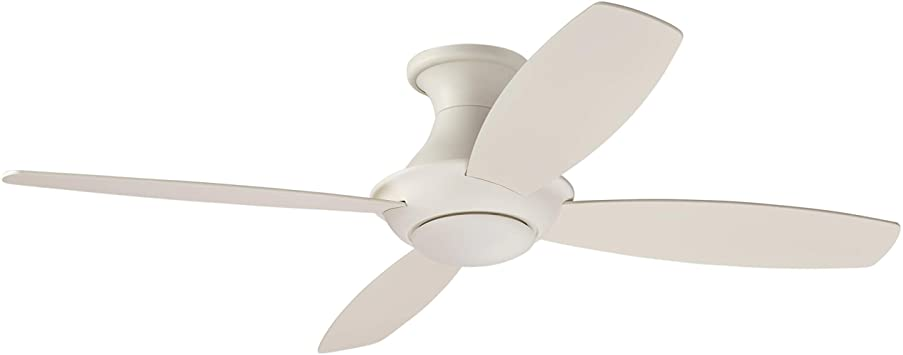 Stone & Beam Modern Remote Control Flush Mount Ceiling Fan With .