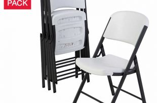 Lifetime Folding Chairs, White or Beige, 4-pa