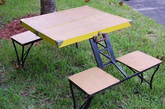 Vintage folding picnic table vintage folding table and four .