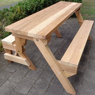 One-piece folding picnic table out of 2×4 lumber | BuildEa