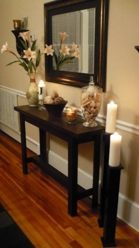 Foyer Table And Mirror Set - Ideas on Fot