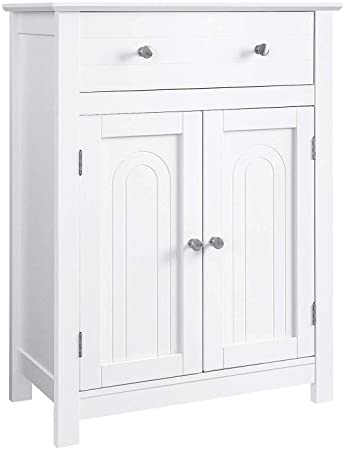 Amazon.com: VASAGLE Free Standing Bathroom Cabinet with Drawer and .