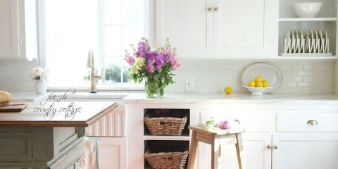 California French Country Style Cottage House Tour - Elegant .