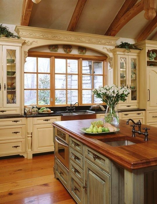 20 Ways to Create a French Country Kitchen | Country kitchen .