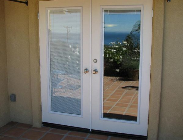 french-patio-doors-with-blinds-inside-glass | French doors .