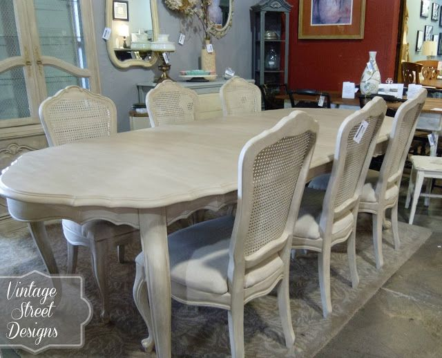 French Provincial Dining Room ~ I chose to paint a base coat of .