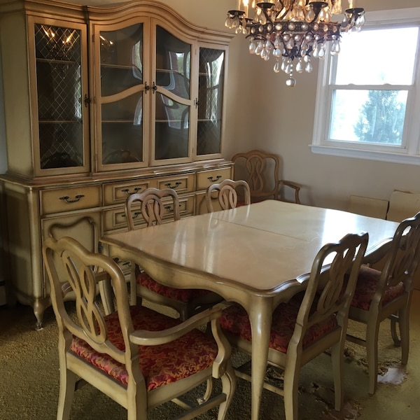 Sold French provincial dining room set in Seaford - let