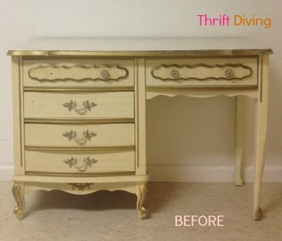 The Makeover of a French Provincial Desk   French provincial .