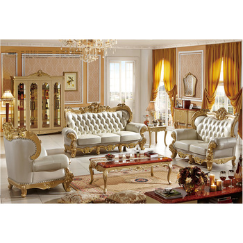 Luxury French style living room furniture sofa and cabinet, View .
