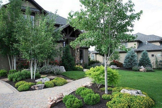 Lovely and Fresh Front Yard Landscaping Ide
