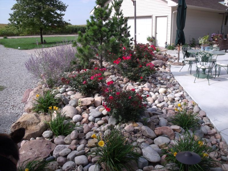 Front Yard Landscaping Ideas River Rock | Landscaping with rocks .