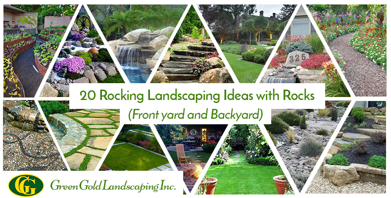 20 Rocking Landscaping Ideas with Rocks (Front Yard + Backyar