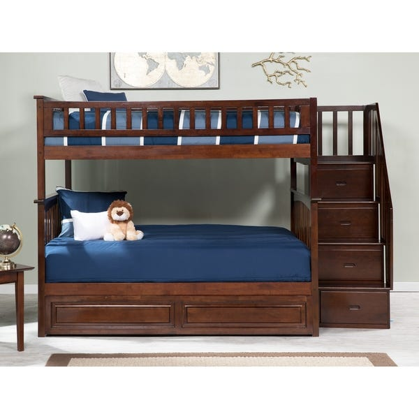 Shop Columbia Staircase Bunk Bed Full over Full with Twin Sized .