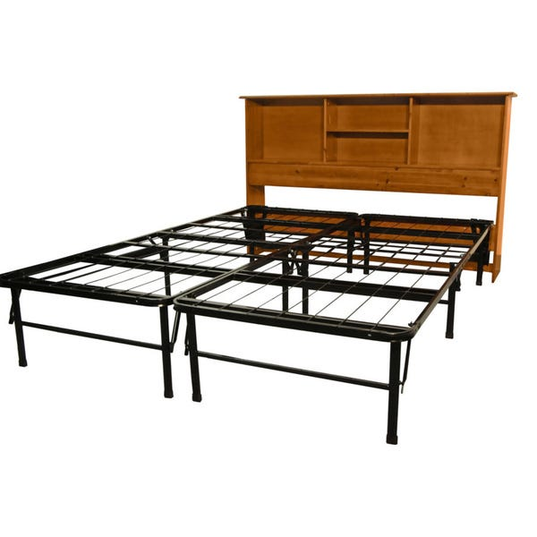 Shop DuraBed Full Bed Frame with All Wood Bookcase Headboard .