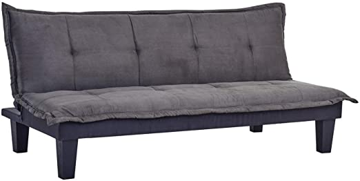 Amazon.com: Homegear Furniture Microfiber Futon Sofa Bed Recliner .