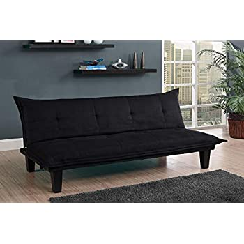 Amazon.com: DHP Lodge Convertible Futon Couch Bed with Microfiber .