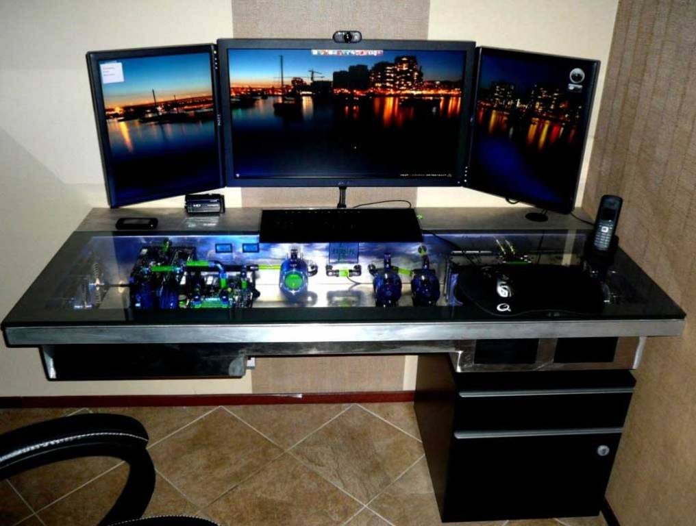 Best Gaming Computer Reviews: [Build Complete] Glass Gaming Desk .