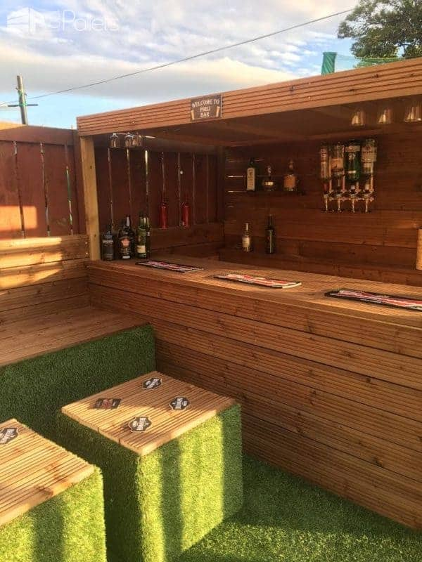 How I Made a Garden Bar from Wood Pallets • 1001 Palle