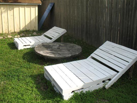 How To Make An Outdoor Pallet Lounger | Pallet lounger, Outdoor .