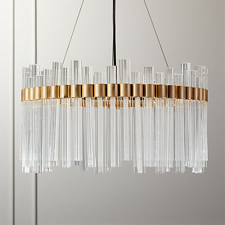 Orion Glass Crystal Chandelier + Reviews | C