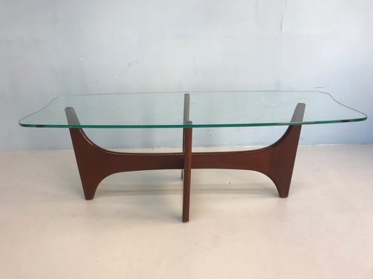 Vintage Glass Top Coffee Table from G-plan, 1960s for sale at Pamo