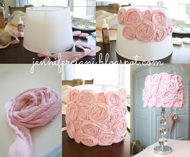 DIY Lamp for Girls room. Baby. Pink. Lamp. Lampshade. How to .
