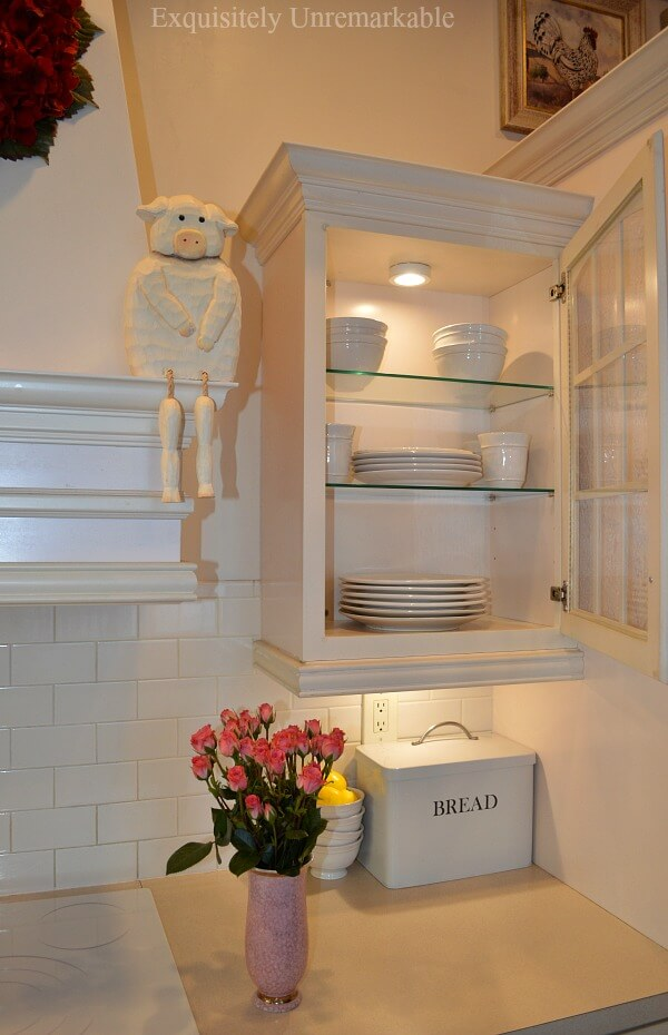 Glass Shelves In Kitchen Cabinets |Exquisitely Unremarkab