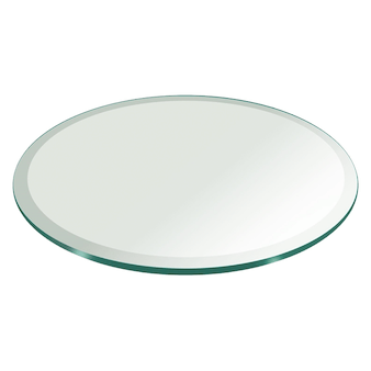 Round Glass Table Top - Clear & Colored Round Glass Dining Table To