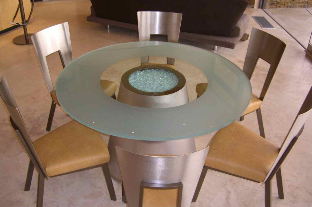 Crystalline Sphere | Glass dining table, Glass table, Glass top tab