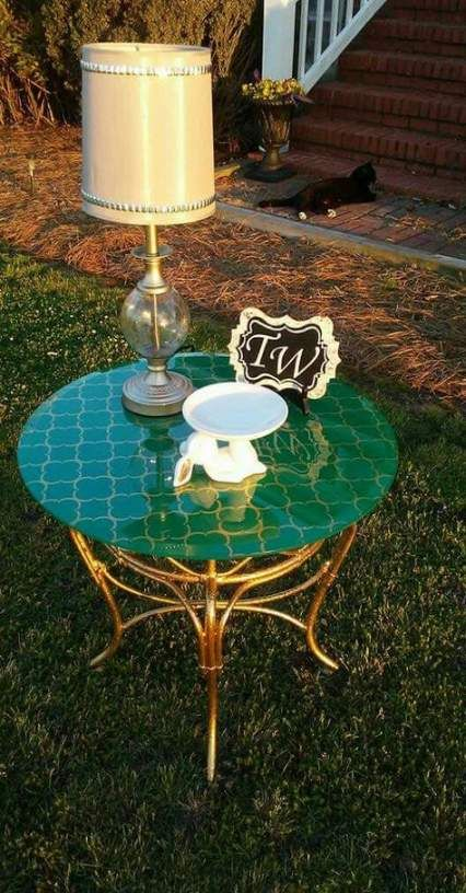 63+ ideas for painting glass table top spray #painting | Glass top .