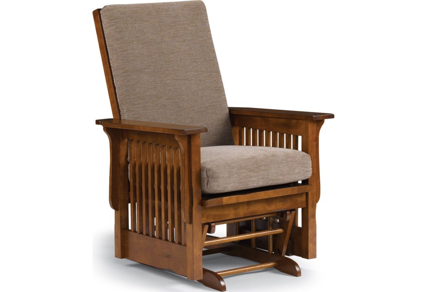 Best Home Furnishings Glide Rocker and Ottomans C8117DP Mission .
