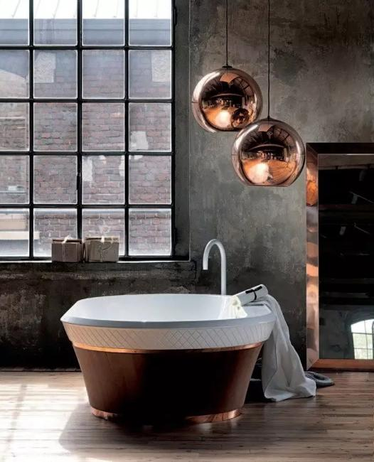 Majestic Globe Lighting Fixtures Bringing Red Metal Chic into .