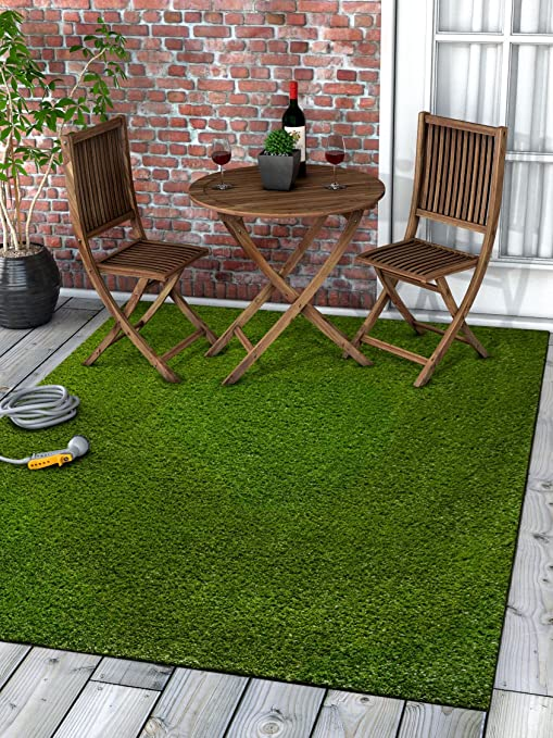 Amazon.com: Well Woven Super Lawn Artificial Grass Rug Indoor .