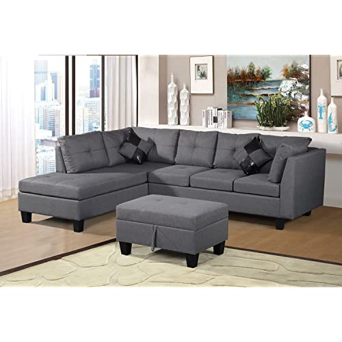 Gray Sectional Sofa with Chaise: Amazon.c