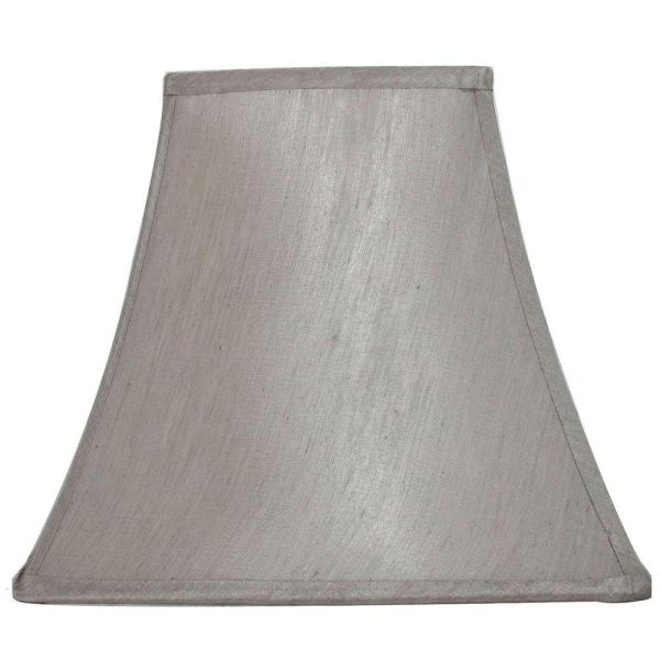 Hampton Bay Mix and Match Bavarian Grey Square Bell Table Lamp .