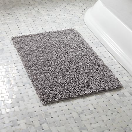 Loop Light Grey Bath Rug + Reviews | Crate and Barr