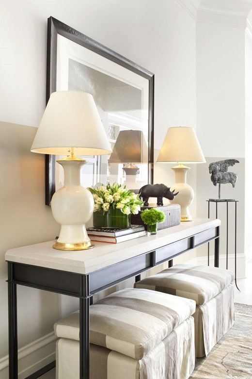 No Fail Objects for Styling a Console Table   Home decor, Modern .
