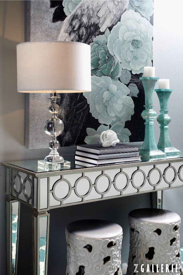 Make a grand entrance with this glam entryway look.   Home decor .
